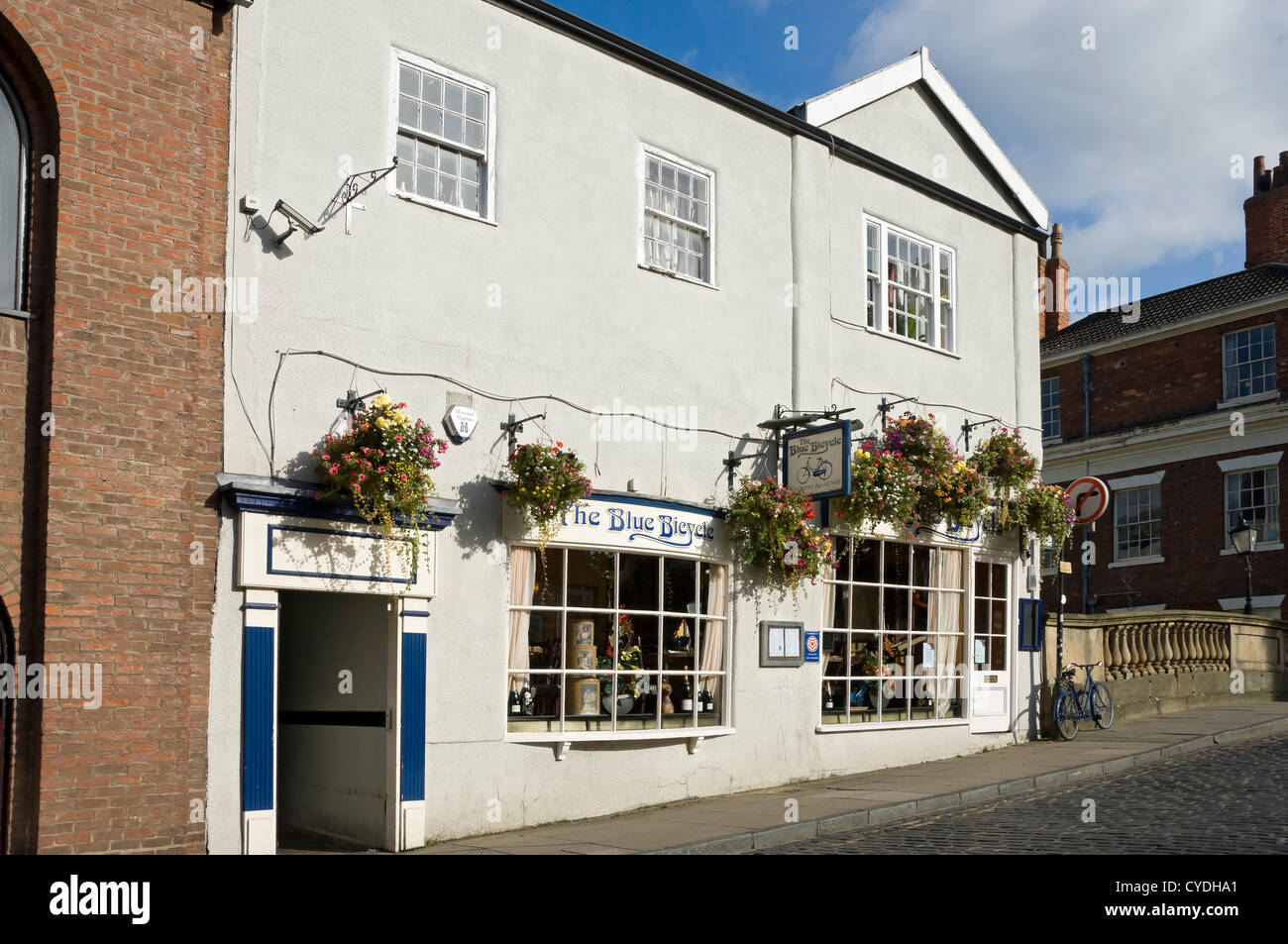 The Blue Bicycle restaurant Fossgate York North Yorkshire England UK United Kingdom GB Great Britain - Stock Image
