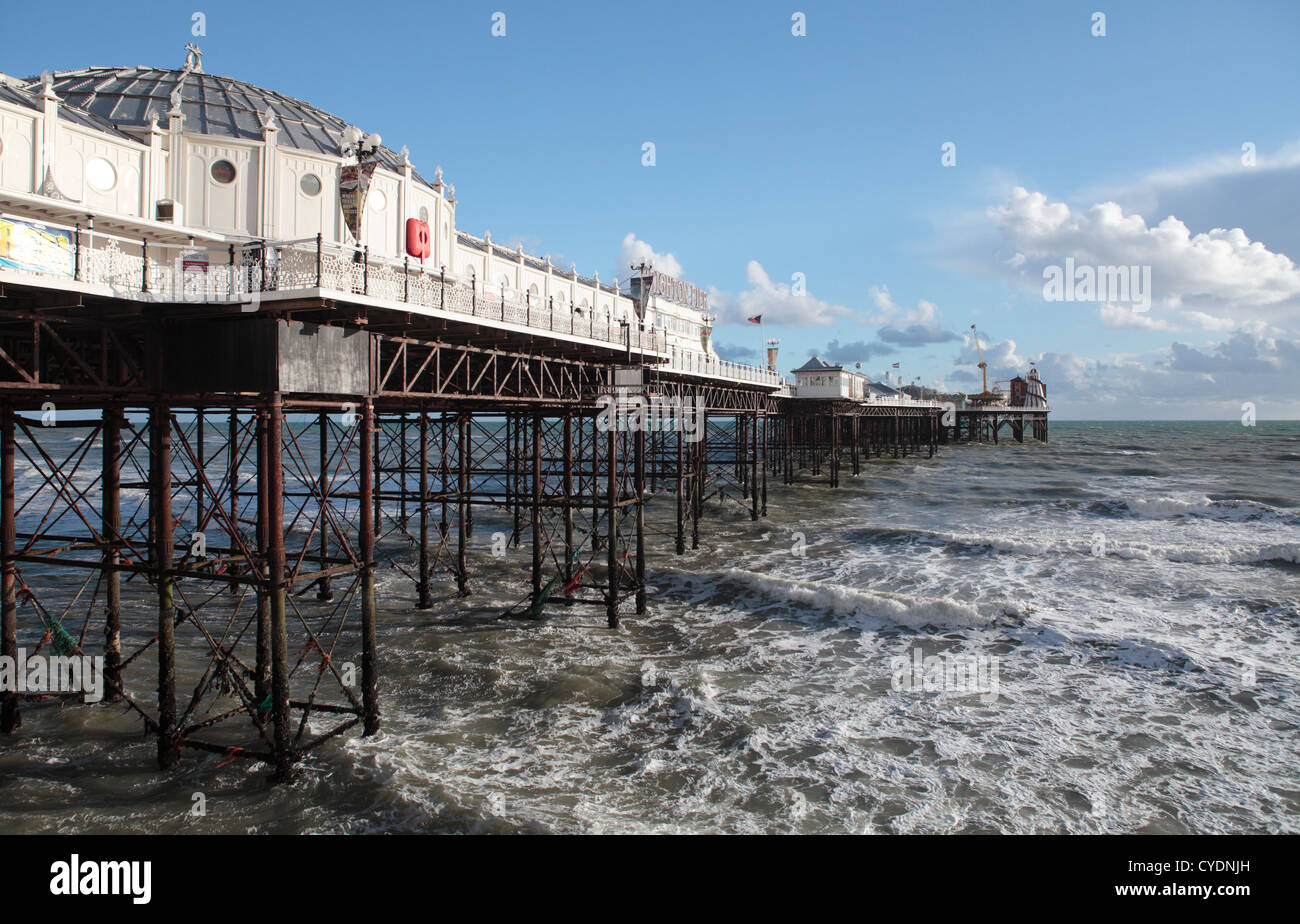 Brighton Palace Pier in the Winter - Stock Image