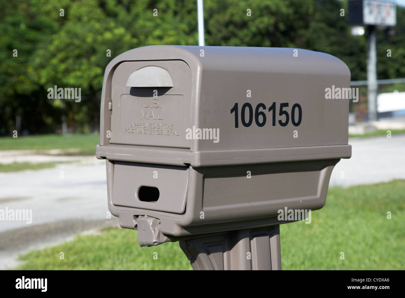 cheap plastic u.s. mail double mailbox usa - Stock Image