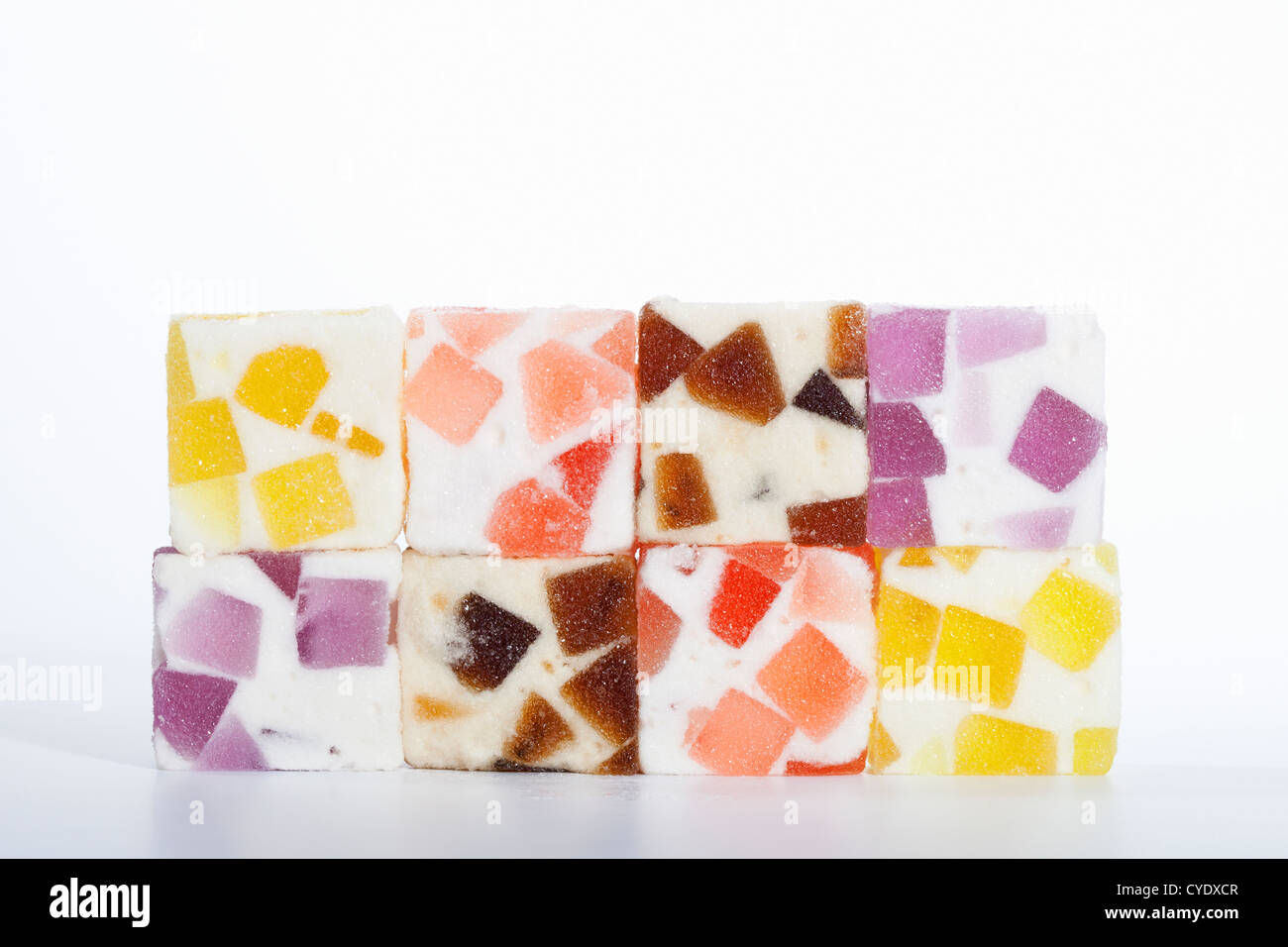 Traditional Japanese gelatin candies made from agar-agar - Stock Image