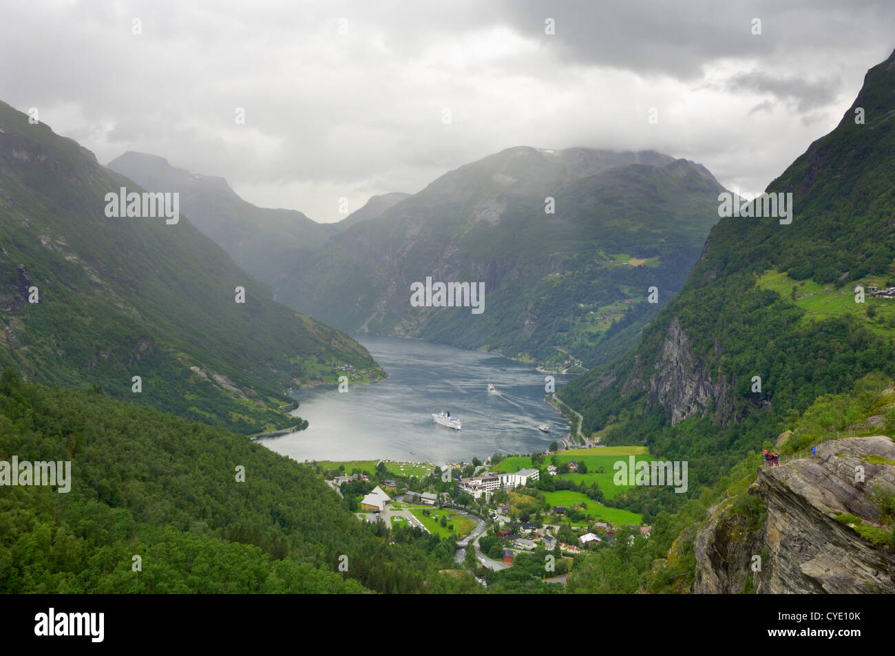 View looking towards Geiranger, More og Romsdal, Norway - Stock Image