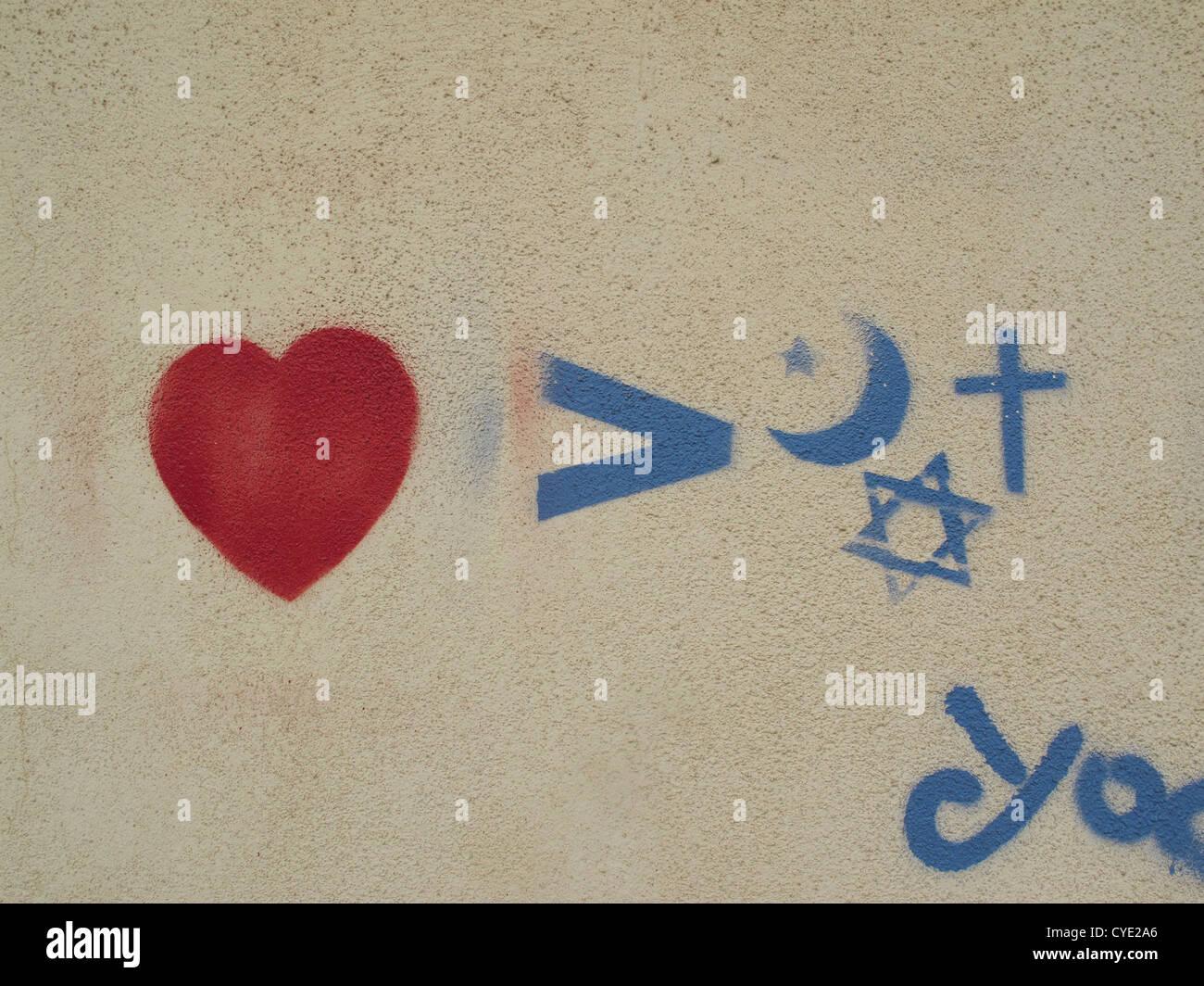 Jewish Christian Muslim Symbol Stock Photos Jewish Christian