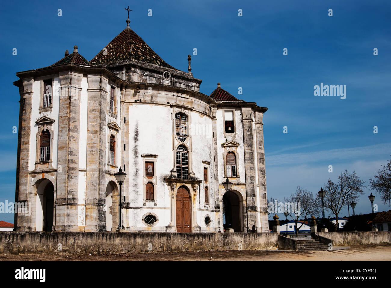 Senhor Jesus da Pedra, Obidos, Portugal: Beautiful hexagonal shape church - Stock Image