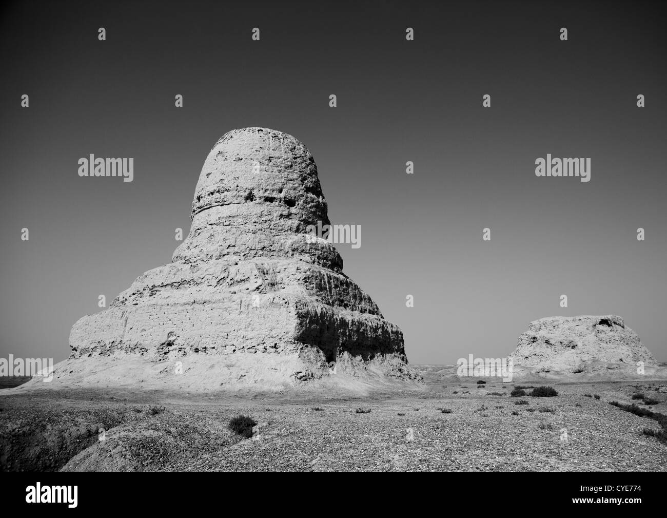 Mor Buddhist Stupa, Kashgar, Xinjiang, China, Xinjiang Uyghur Autonomous Region, China Stock Photo