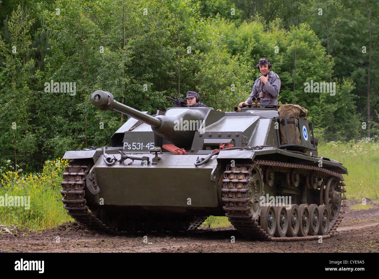 ww2 vintage sturmgeschütz iii assault gun of the finnish army stock
