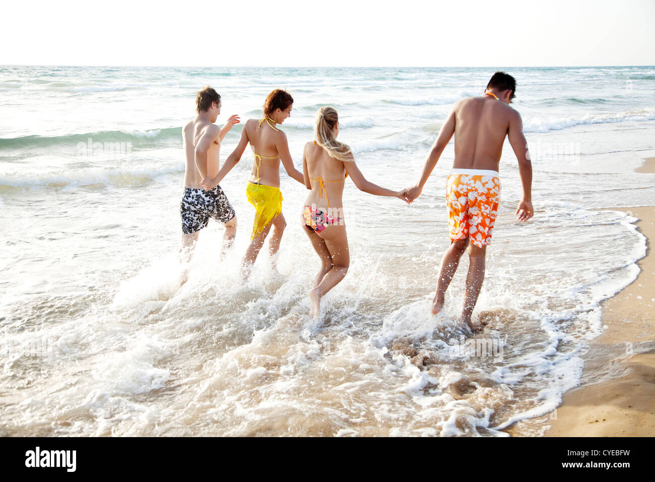 beach fun - Stock Image