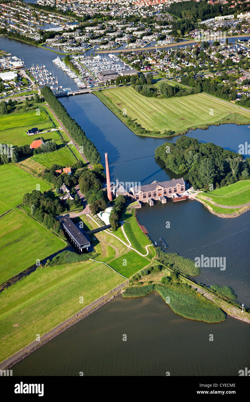 The Netherlands, Lemmer, steam-driven pumping engine called the Ir.D.F. Woudagemaal, UNESCO World Heritage Site. - Stock Image
