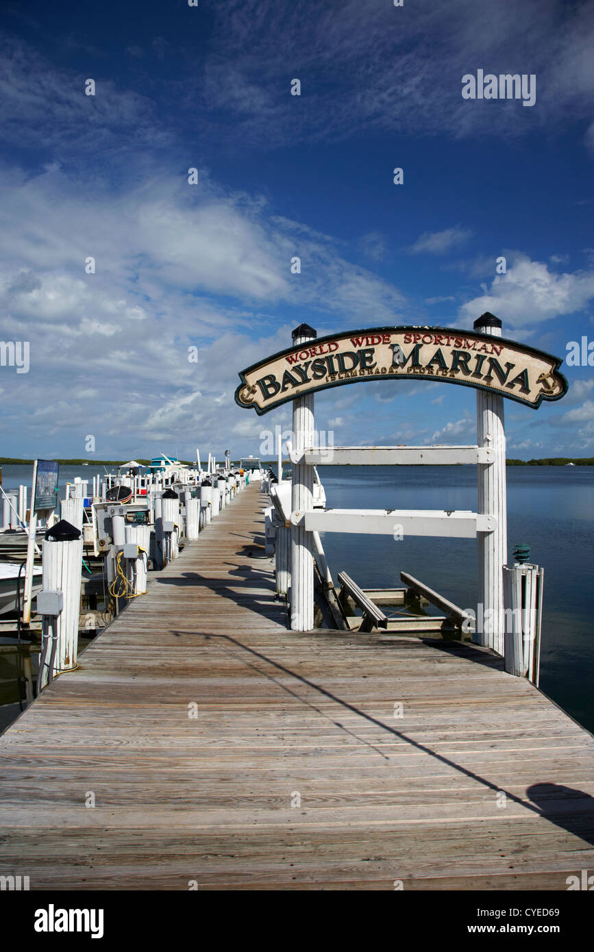world wide sportsman bayside marina islamorada florida keys usa - Stock Image