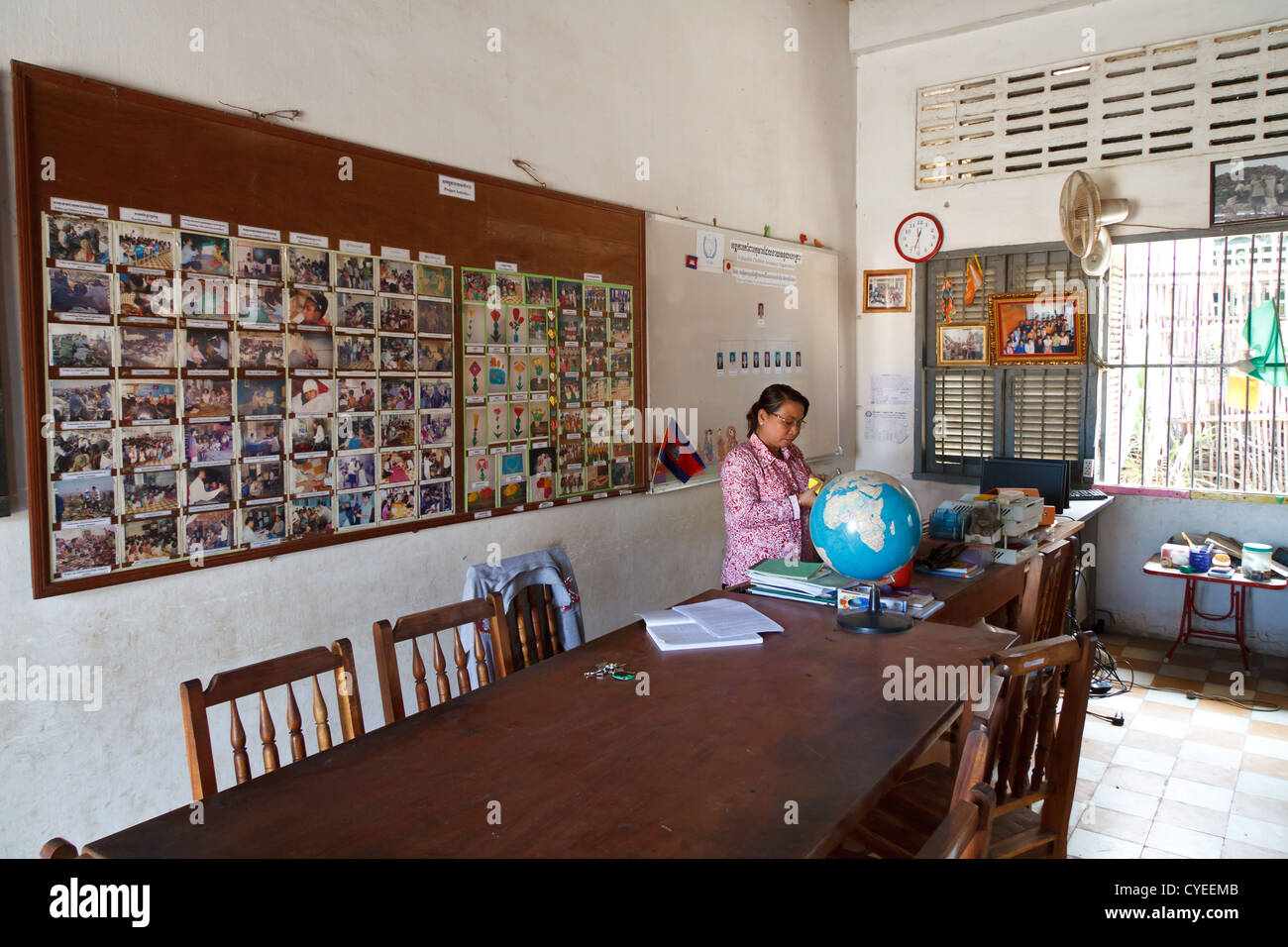 Classroom Of A School In The District Stung Meanchey In Phnom Penh Stock Photo Alamy