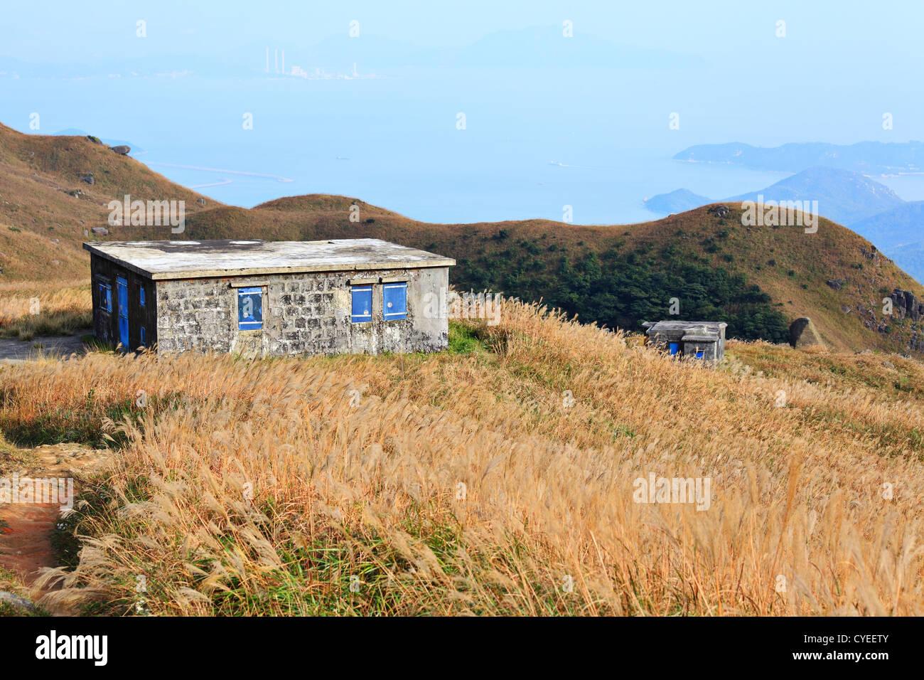 house on mountain - Stock Image