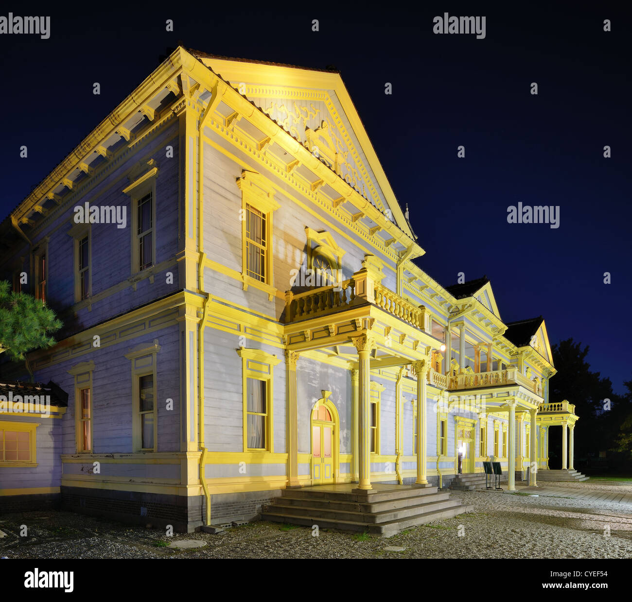 Old Public Hall of Hakodate, Hokkaido, Japan. - Stock Image