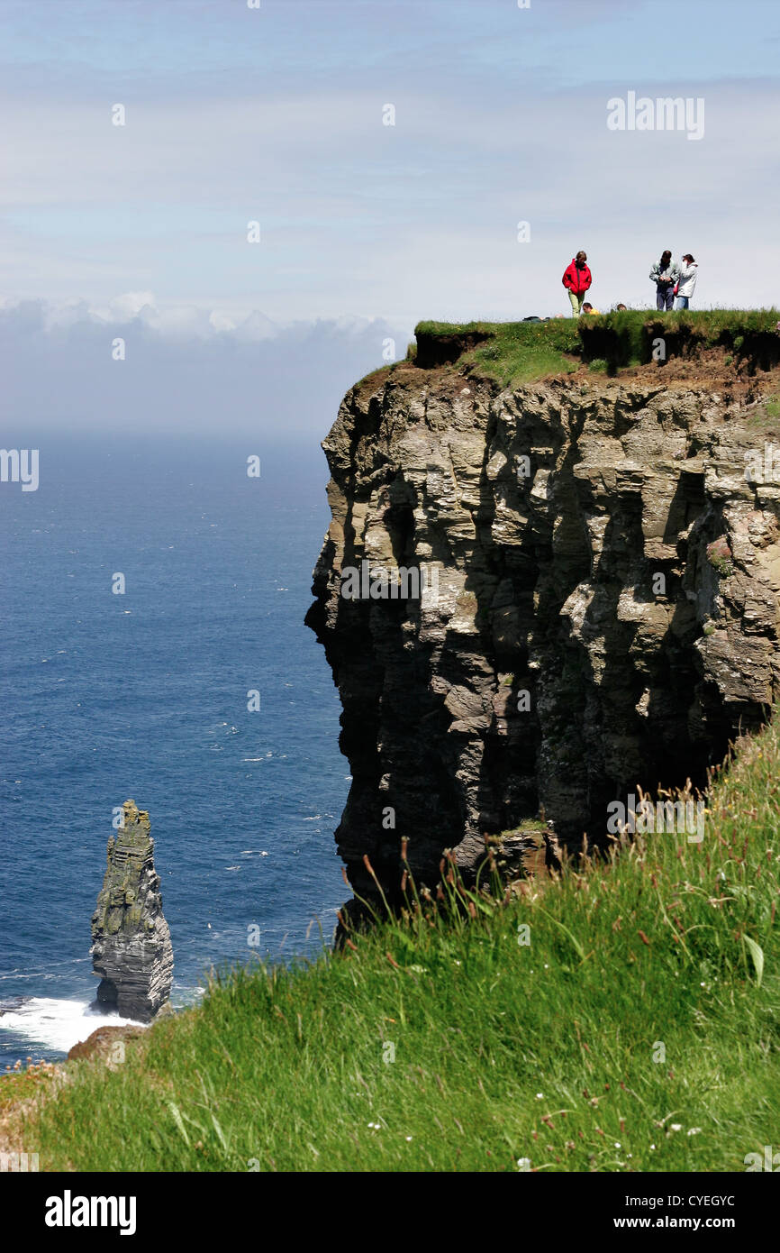 Cliffs of Moher in the Burren region in County Clare - Stock Image