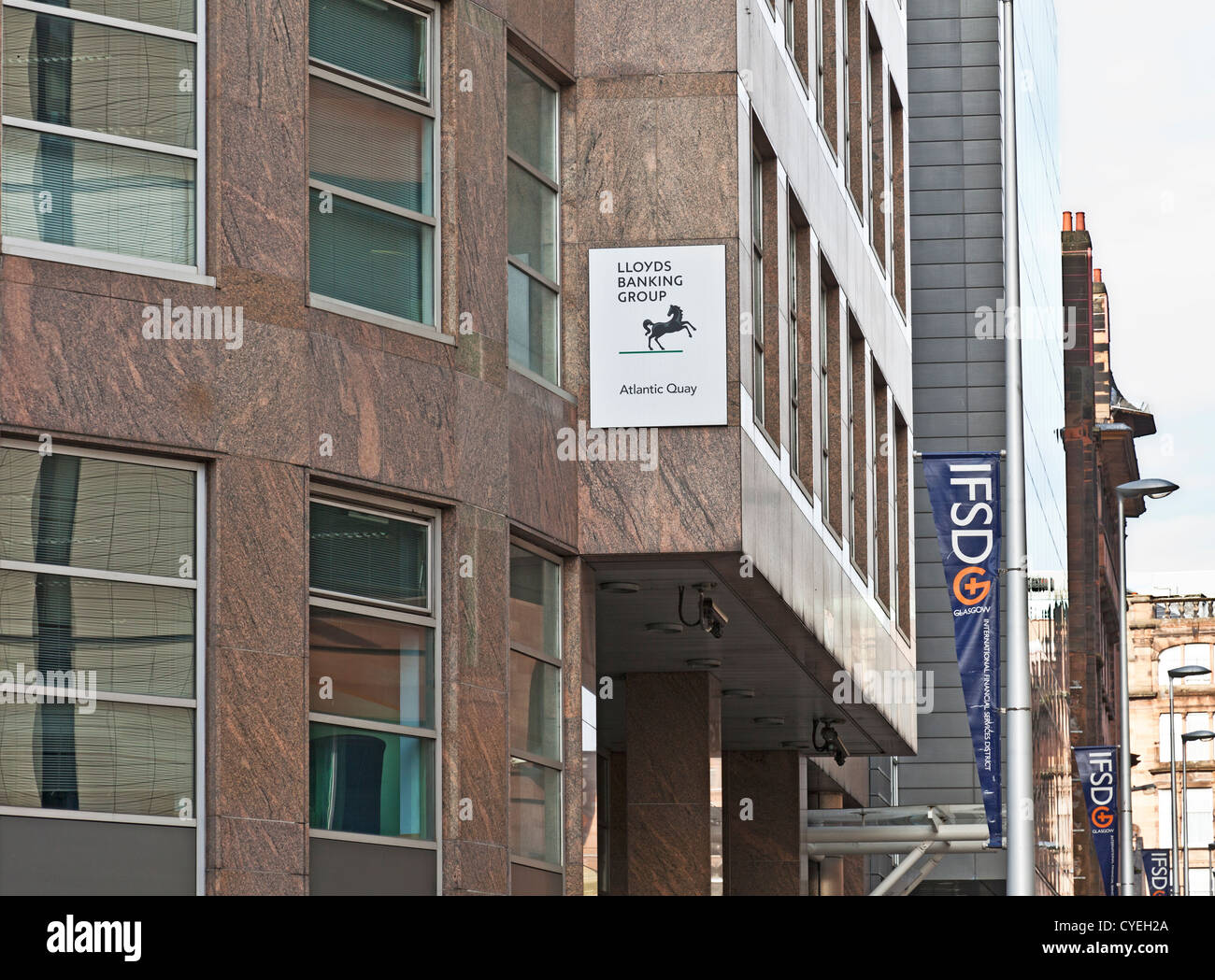 main entrance to lloyds banking group telephony office in atlantic