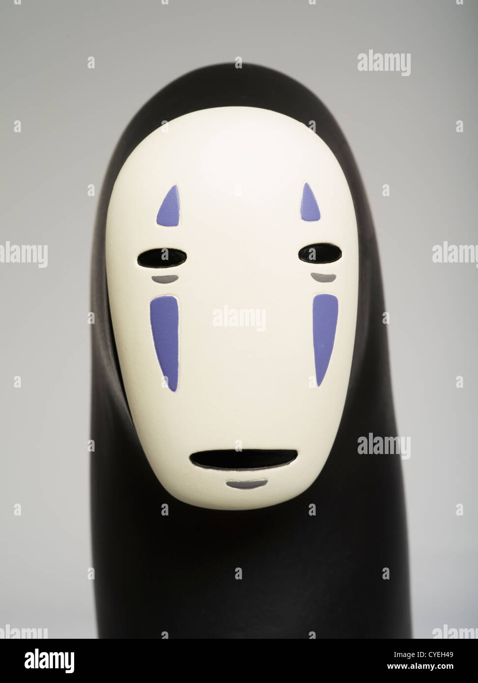 No-face toy from anime movie Spirted Away / Sen to Chihiro, directed by Hayao Miyazaki, produced by Studio Ghibli Stock Photo