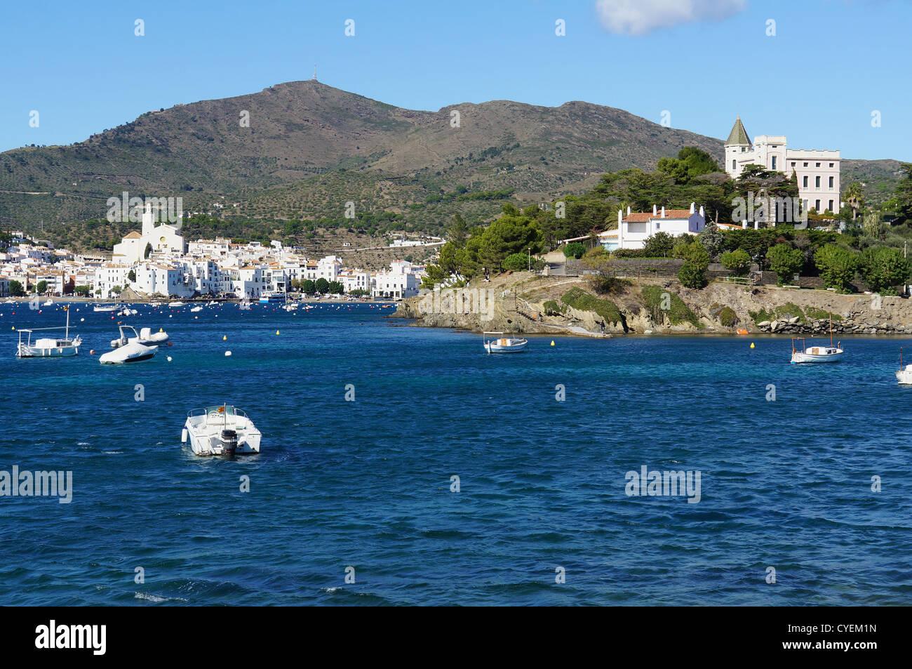 Mediterranean village of Cadaques, Catalonia, Costa Brava, Spain - Stock Image