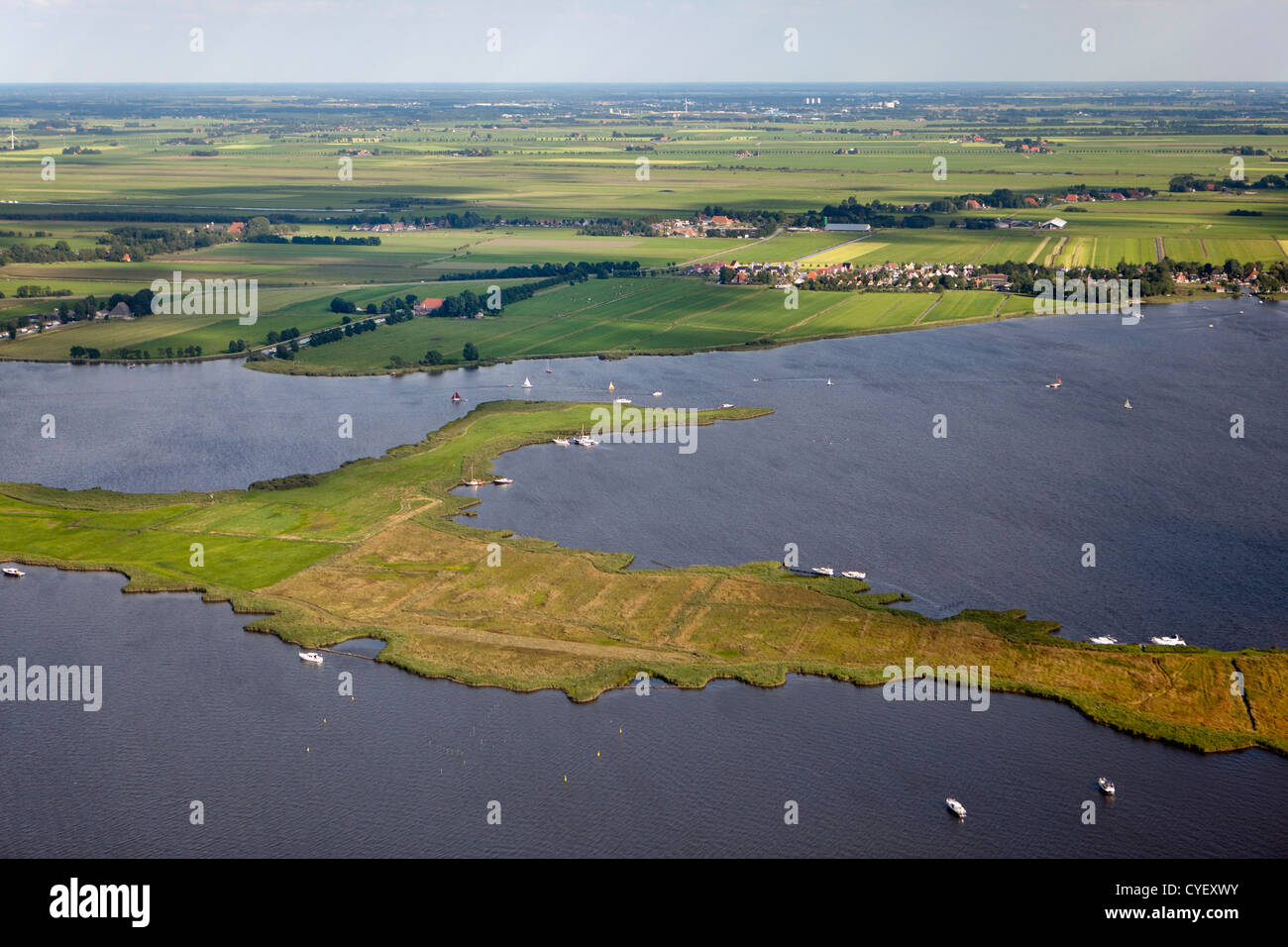 The Netherlands, Terherne,  Aerial. - Stock Image