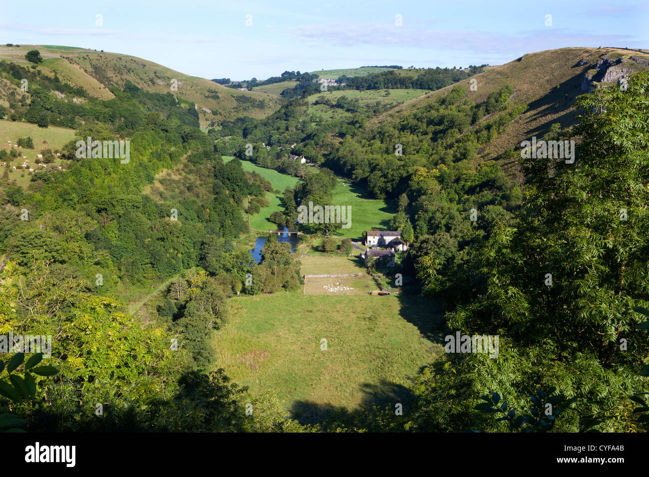 Monsall Dale in Derbyshire Peak District - Stock Image