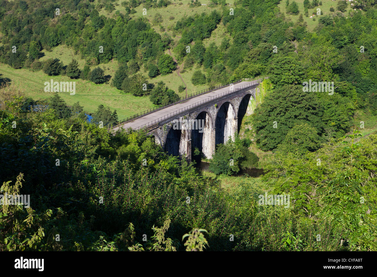 Headstone Viaduct in Monsall Dale in Derbyshire Peak District - Stock Image