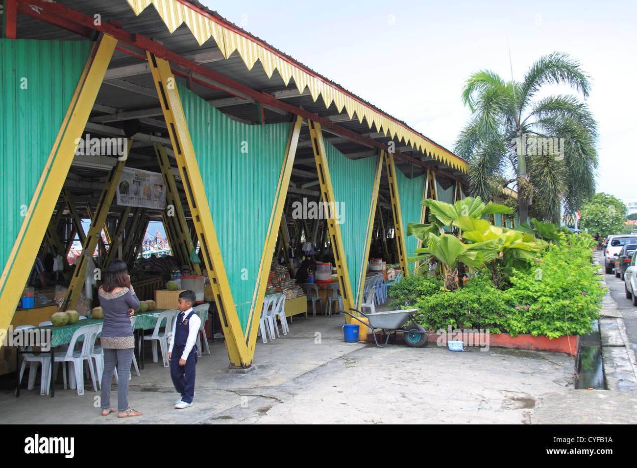 Local Fruit Market (aka Filipino Market), Julan Tun Fuad Stephens, Kota Kinabalu, Sabah, Borneo, Malaysia, Southeast - Stock Image