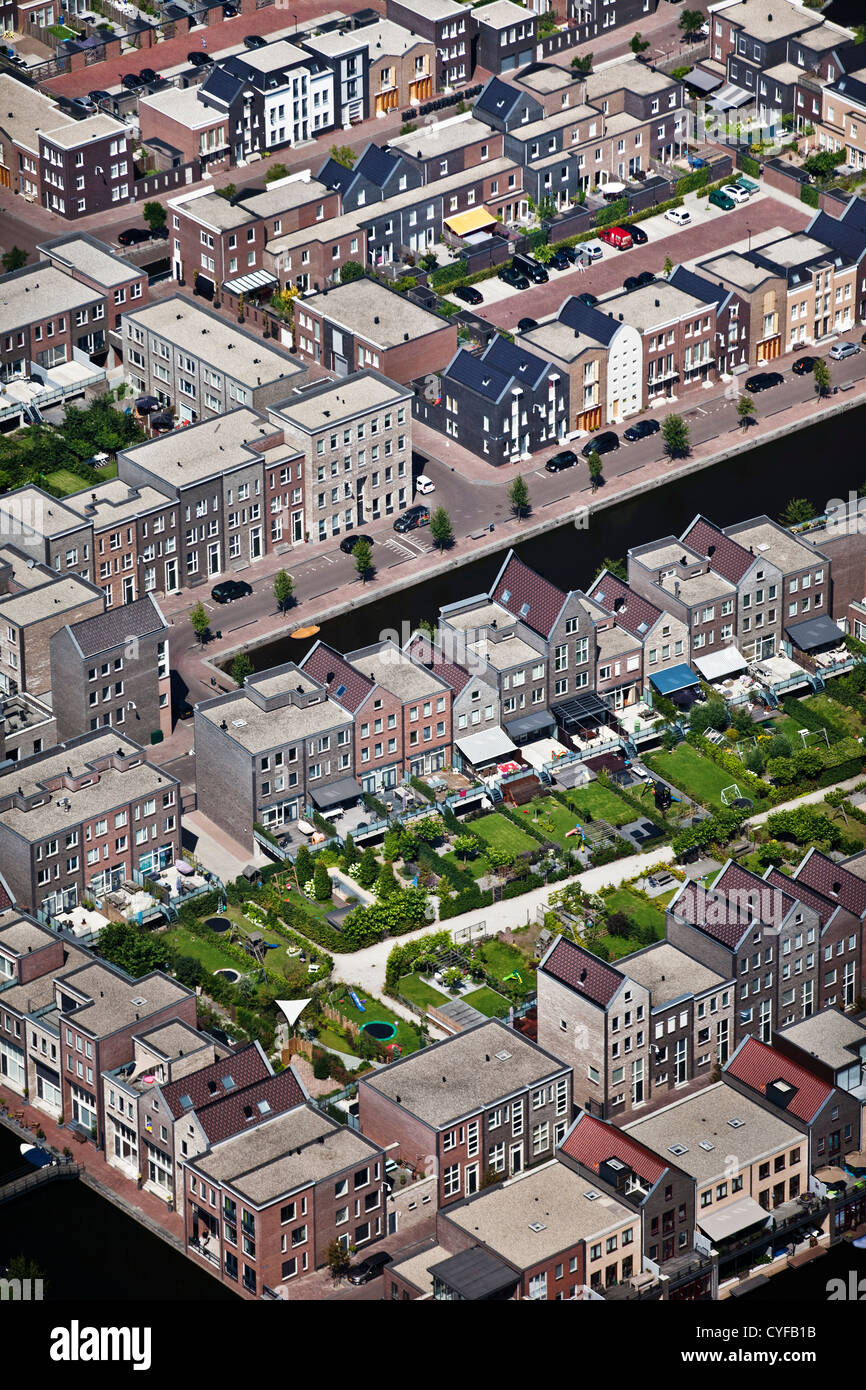 The Netherlands, Amersfoort, residential district called Vathorst. Aerial. - Stock Image