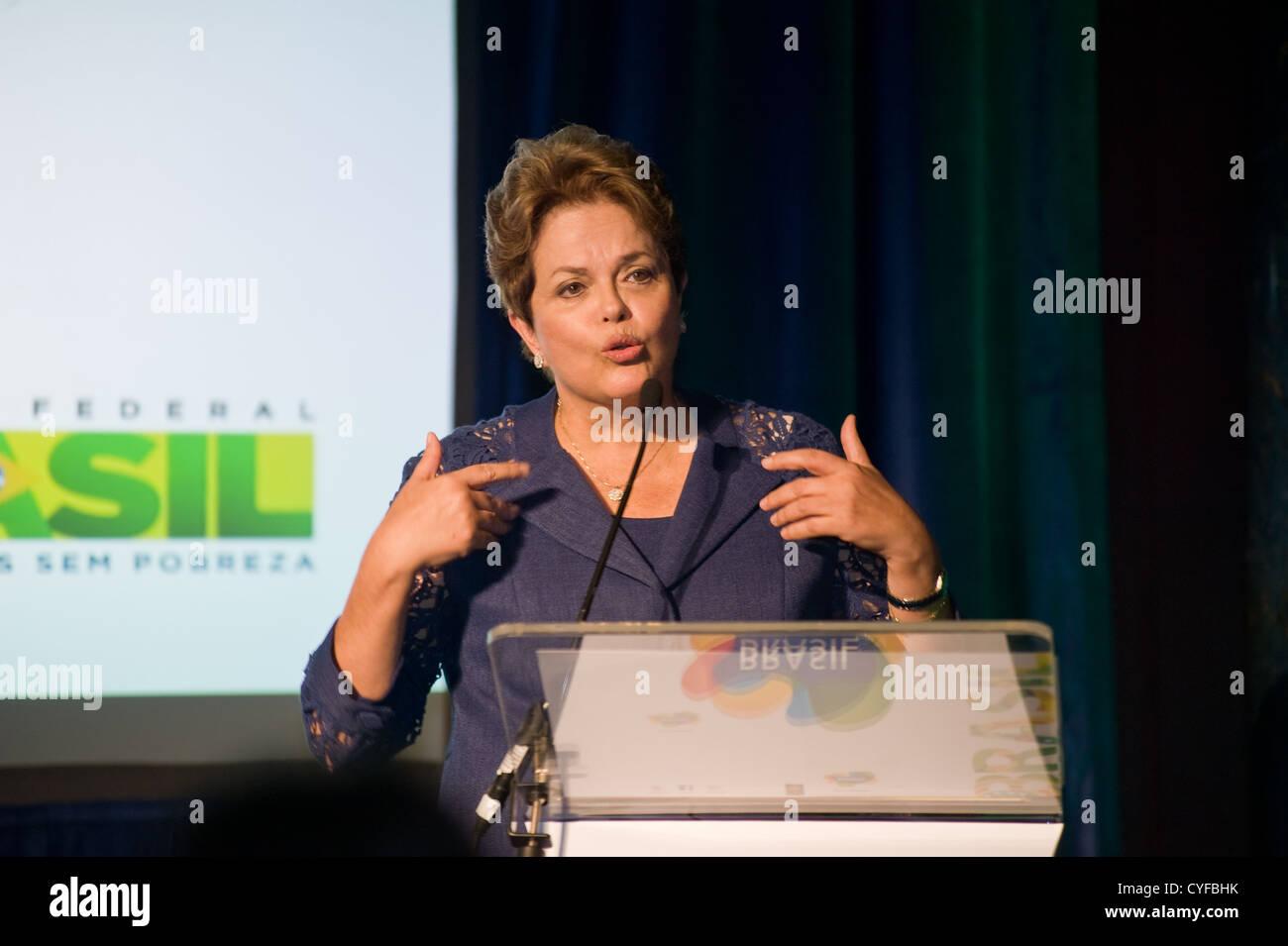 Dilma Rousseff, President of Brazil - Stock Image