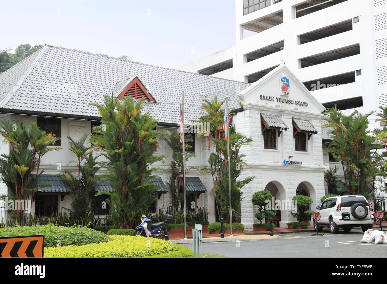 Sabah Tourism Board (formerly the Post Office and once colonial offices), Kota Kinabalu, Sabah, Borneo, Malaysia, - Stock Image