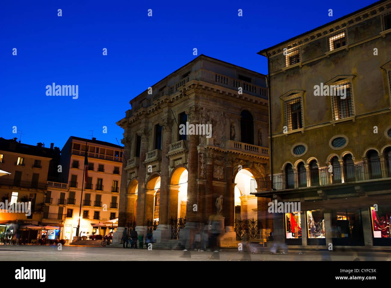 The palazzo del Capitaniato, also known as loggia del Capitanio or loggia Bernarda, is a palazzo in Vicenza, northern - Stock Image