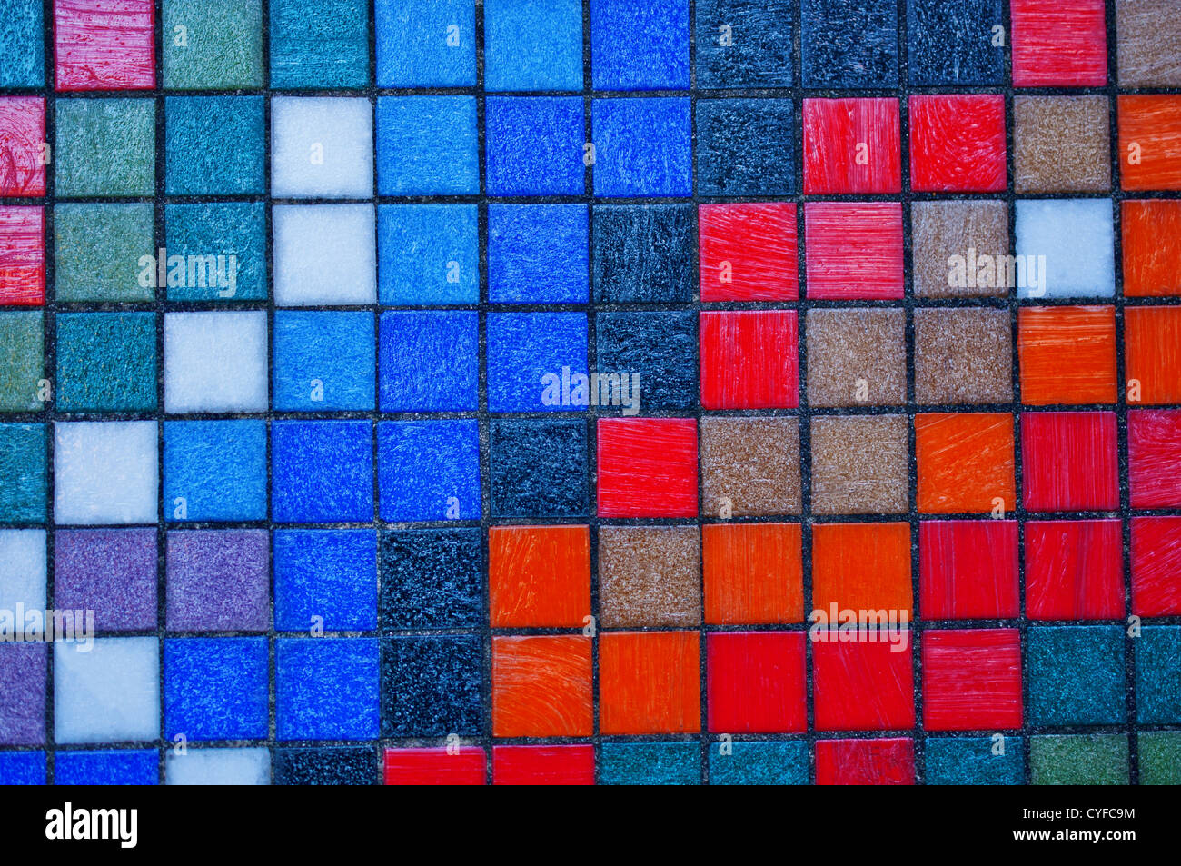 Abstract colorful tiles wall background close up Stock Photo ...