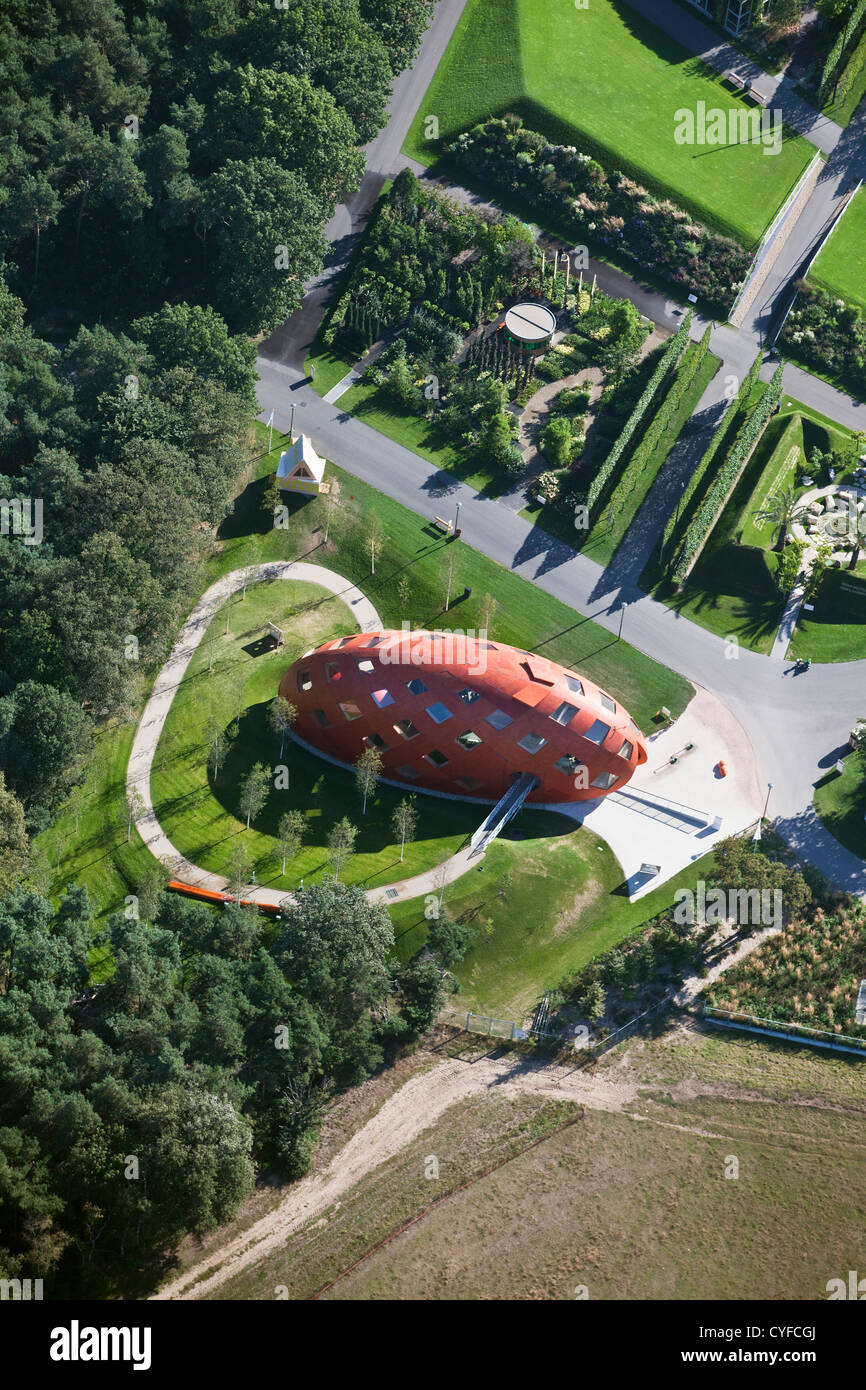 The Netherlands, Venlo, FLORIADE, the World Horticultural Expo 2012, Aerial. Pavilion called My Green World. Stock Photo