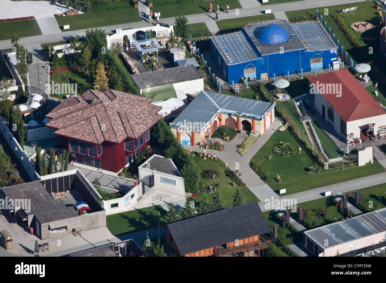 The Netherlands, Venlo, FLORIADE, the World Horticultural Expo 2012, once every 10 years. Aerial. - Stock Image