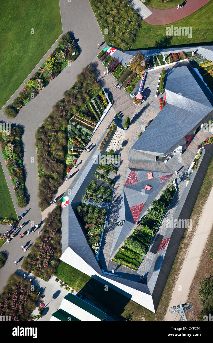 The Netherlands, Venlo, FLORIADE, the World Horticultural Expo 2012, Pavilion of the German Government. - Stock Image
