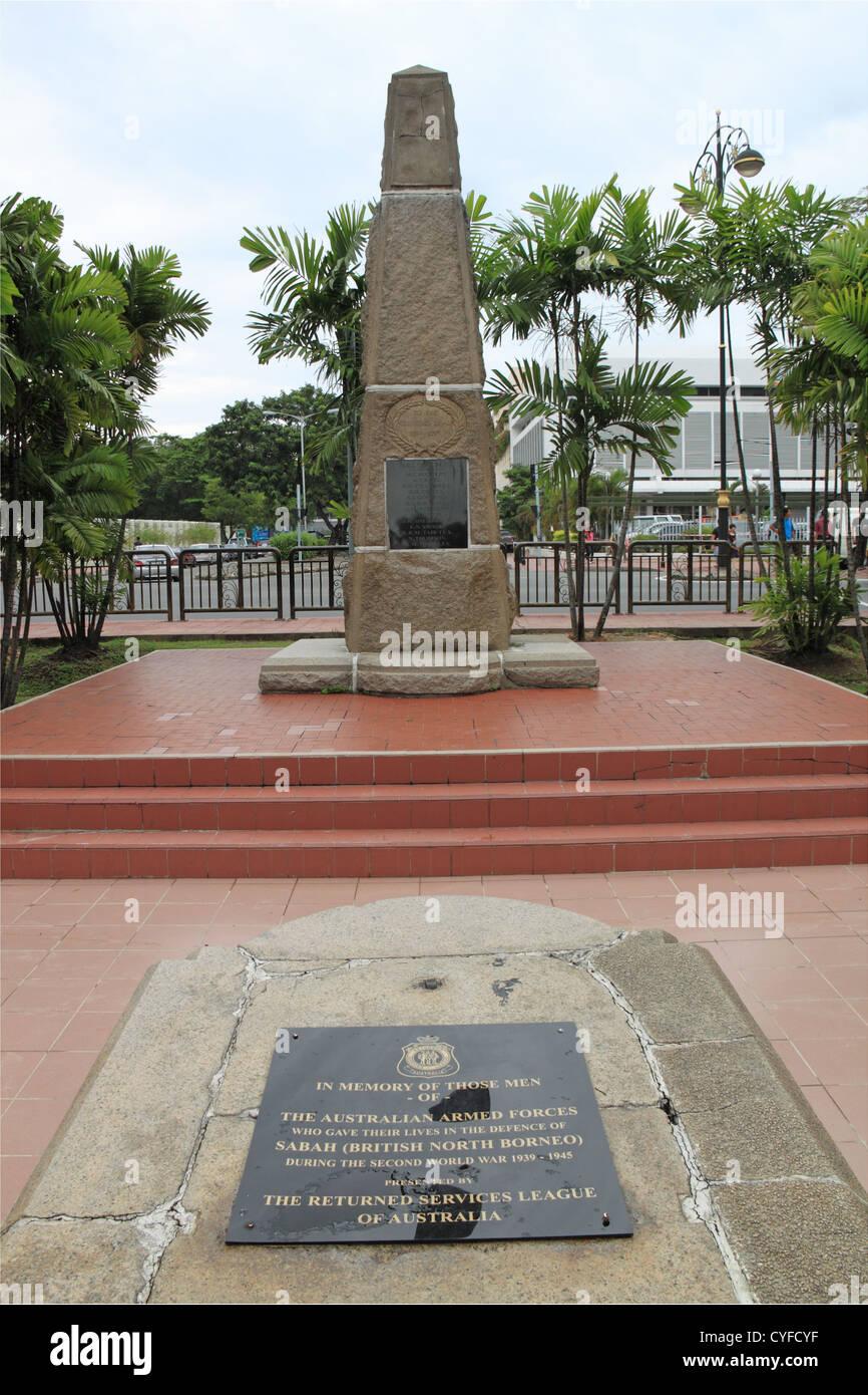 British North Borneo Memorial, City Park, Julan Tun Razak, Kota Kinabalu, Sabah, Borneo, Malaysia, Southeast Asia - Stock Image