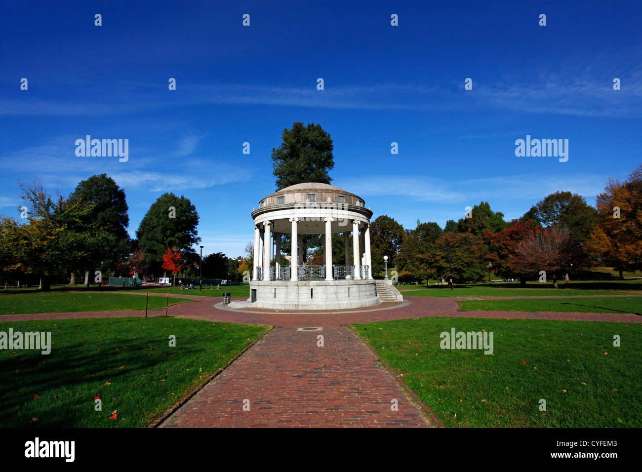 Parkman Bandstand in the park on Boston Common, Boston, Massachusetts, America - Stock Image