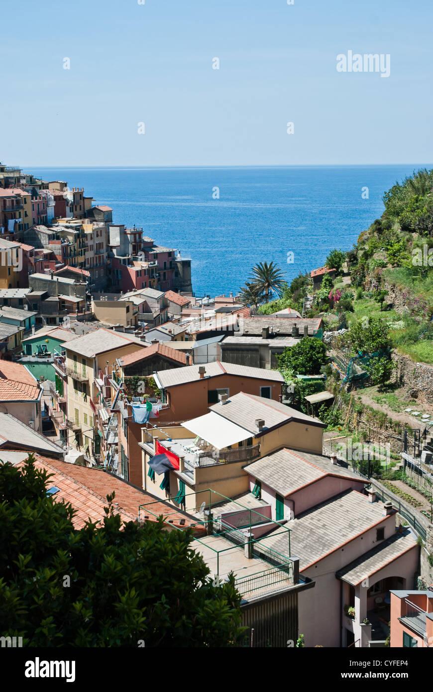 Manarola Village Cinque Terre Liguria In Italy