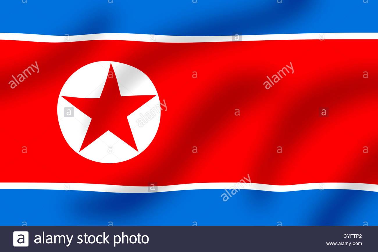 Flag of North Korea - Stock Image