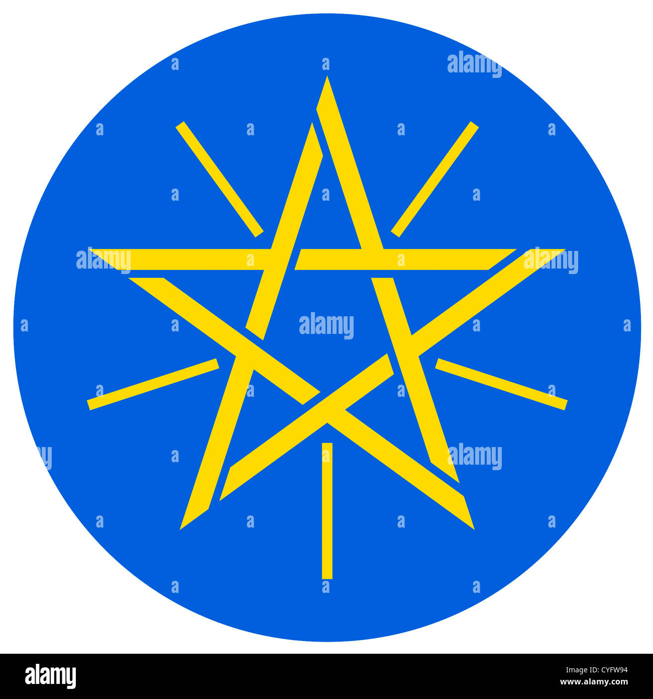 Coat of arms of the Federal Democratic Republic of Ethiopia. - Stock Image