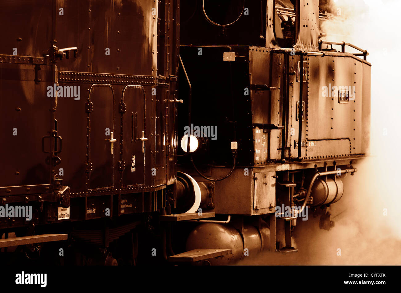 a steam locomotive Stock Photo