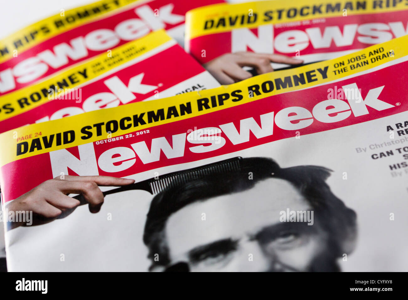 Printed Copies of Newsweek Magazine.  - Stock Image