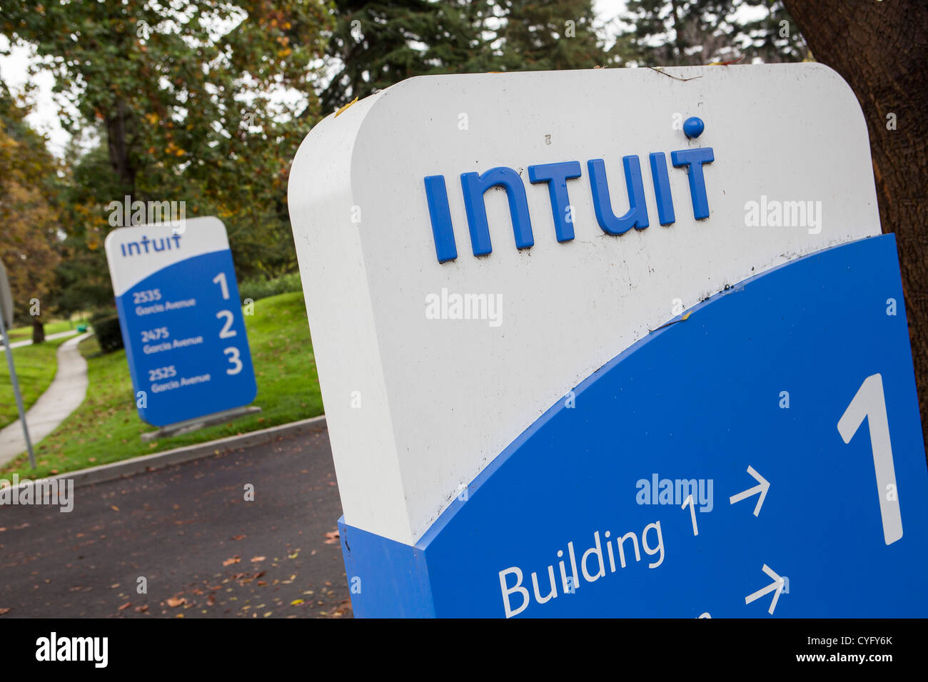 The headquarters of business software maker Intuit  Their