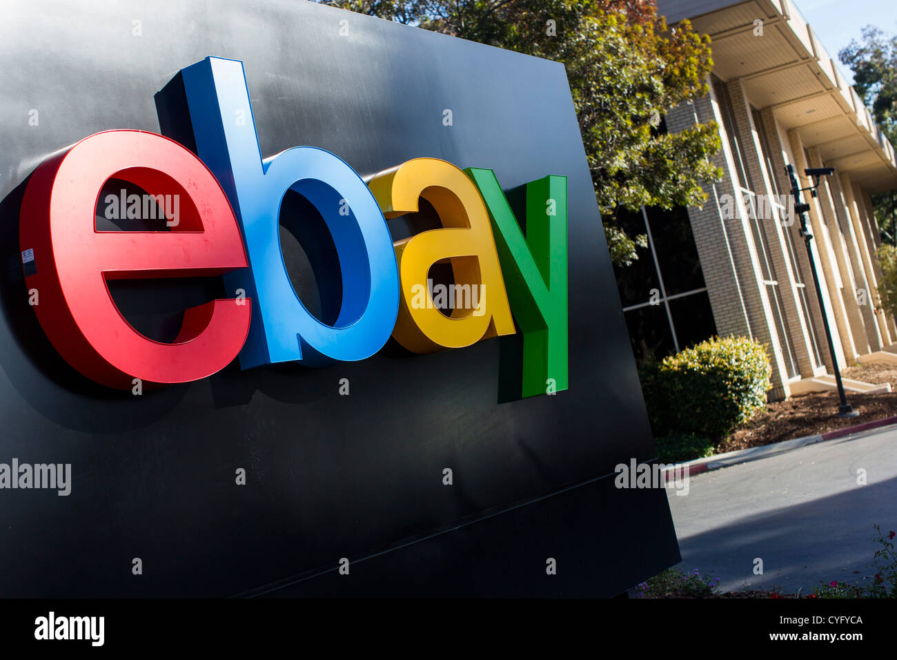 The headquarters of eBay, with a new logo.  - Stock Image