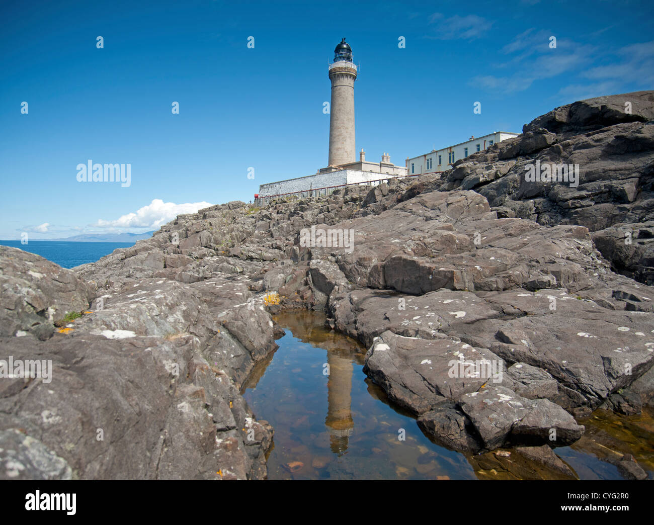 Ardnamurchan Lighthouse is situated on the most westerly point of the British Mainland.  SCO 8754 - Stock Image