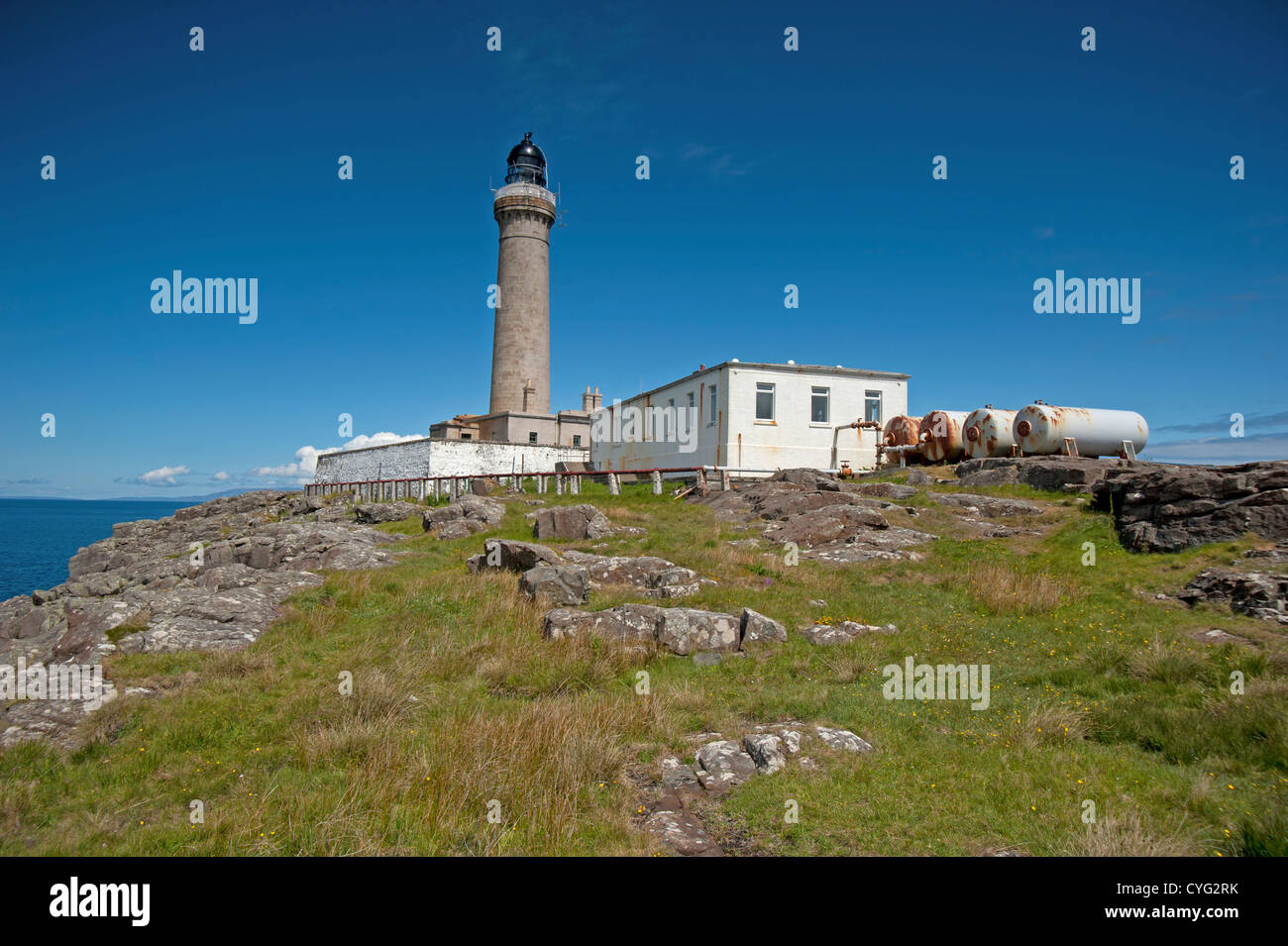 Ardnamurchan Lighthouse is situated on the most westerly point of the British Mainland.   SCO 8755 - Stock Image