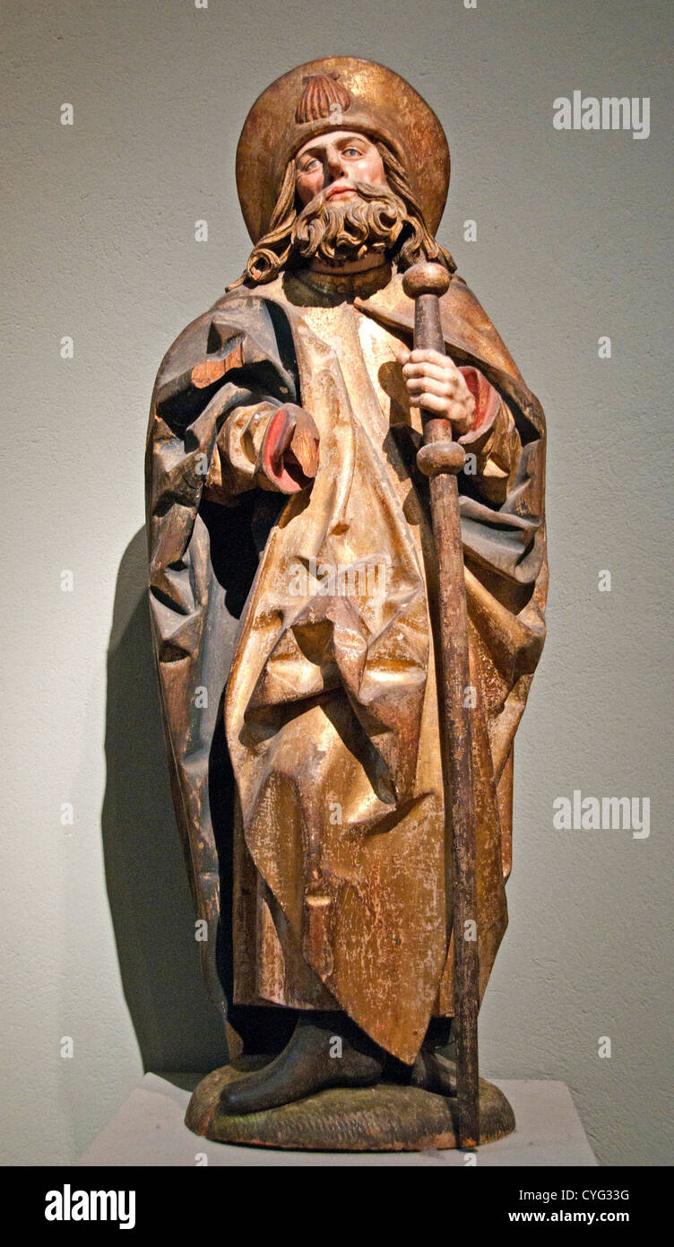 Saint James the Greater 1475–1500 Germany South German 90cm - Stock Image