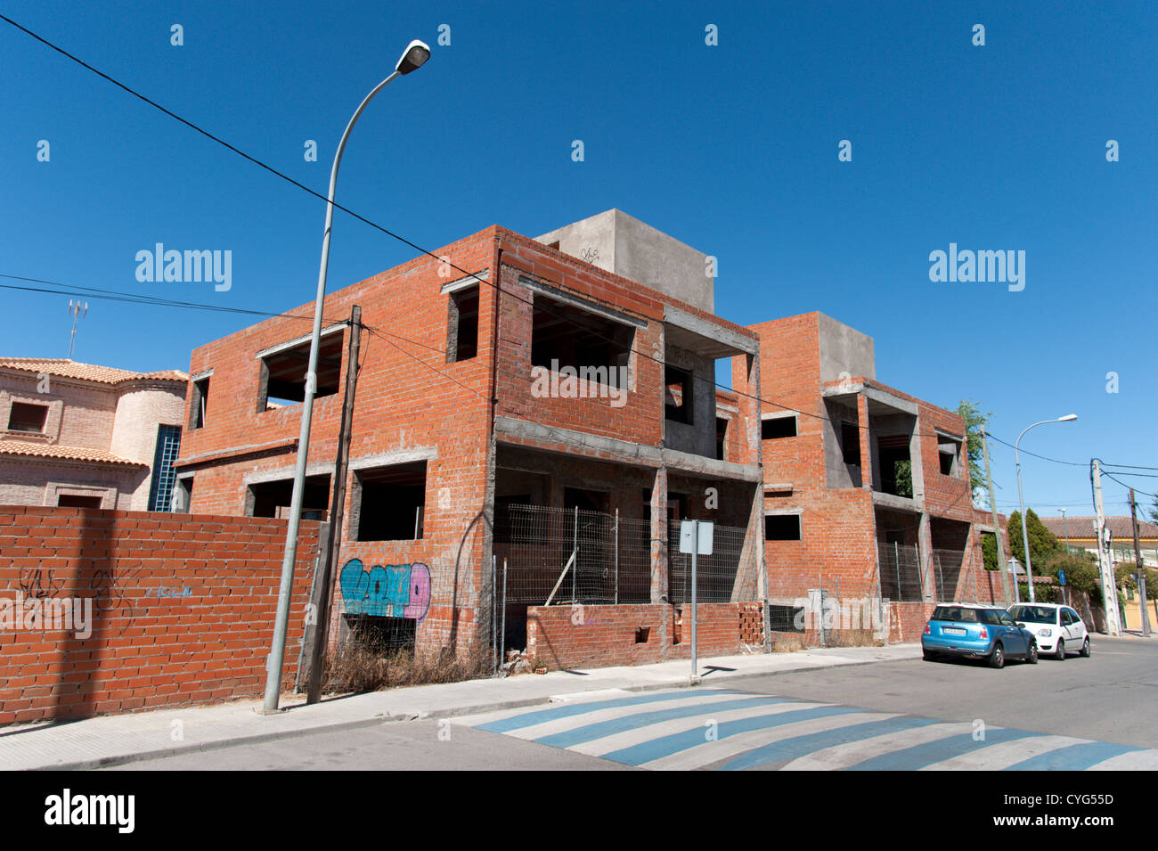 Unfinished housing development in Seseña, Spain - Stock Image
