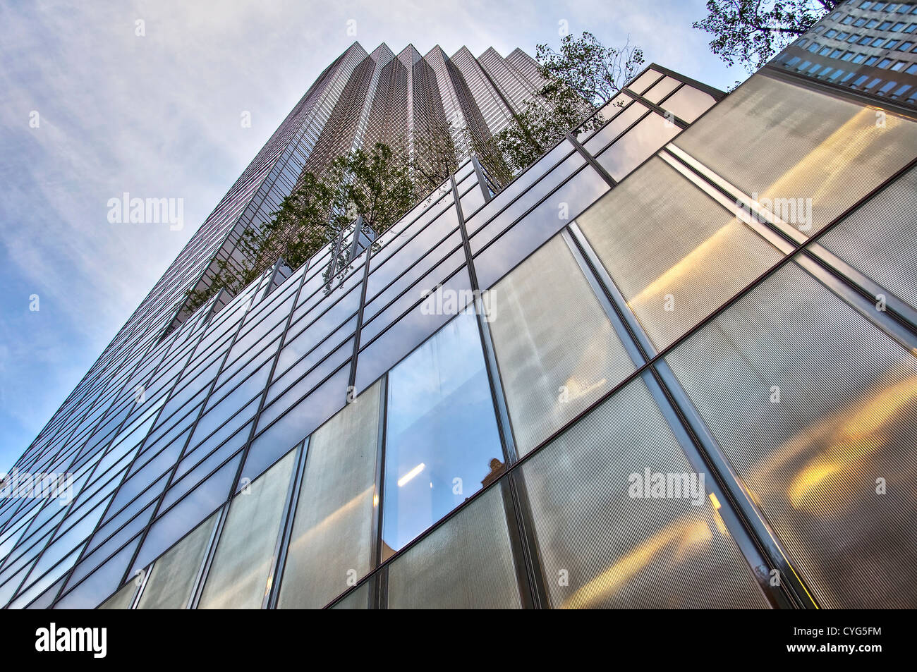 The Trump tower on the 5th avenue, view from below - Manhattan, New York, USA - Stock Image