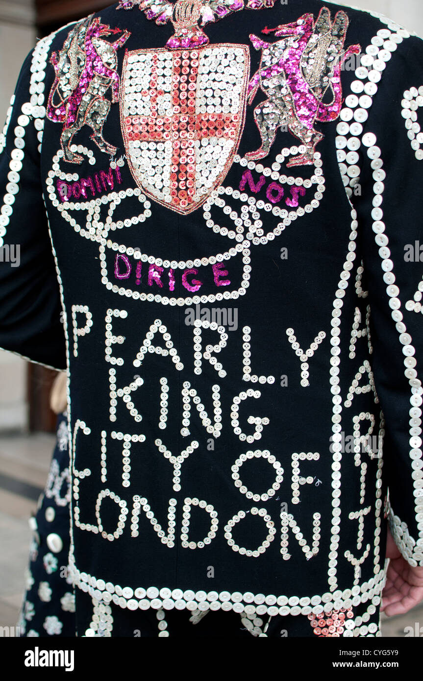 A Pearly King of London - Stock Image
