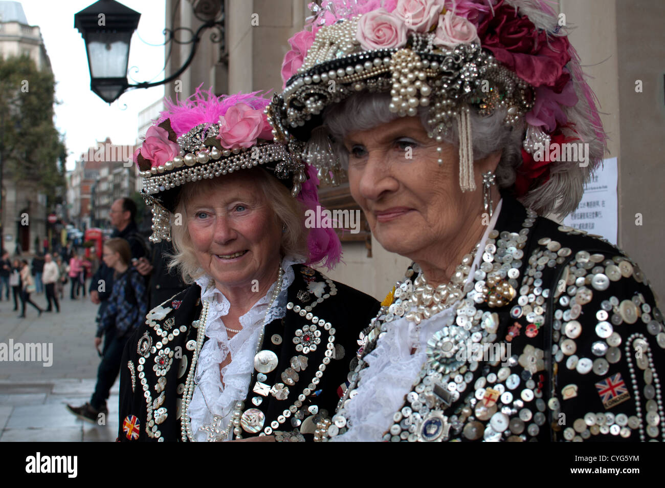 Pearly Queens of London - Stock Image