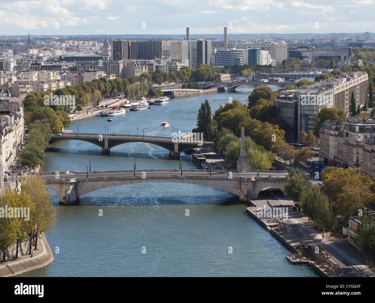 View from Notre Dame de Paris, France. - Stock Image