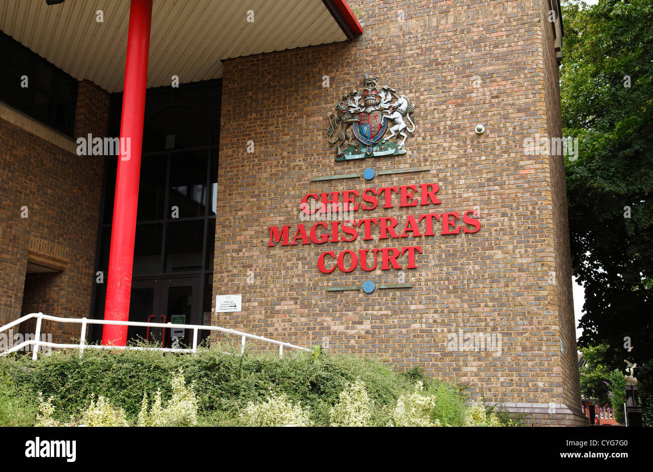 Chester magistrates court, Chester, England, U.K. - Stock Image