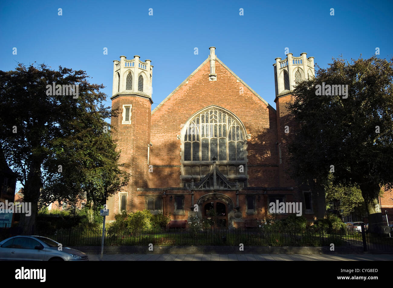 The London Road United Reformed Church in Kettering, Northamptonshire, UK - Stock Image
